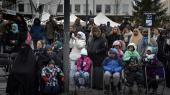 Demonstration mod vold i Stockholm-forstaden Rinkeby.