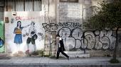 Bleeps betegner sig selv som en pioner inden for den radikale street art i Athen, og de fleste af hans værker rummer en kritik af kapitalismen