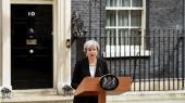 Theresa May talte – klædt i sort – på Downing Street efter angrebet efter en koncert i Manchester.