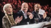 De tre dommere i X Factor tidligere i år, Mette Lindberg, Thomas Blachman og Remee.