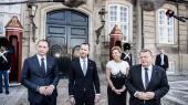 Statsminister Lars Løkke Rasmussen præsenterede onsdag sit nye ministerhold med Tommy Ahlers, Jakob Ellemann-Jensen og Eva Kjer Hansen som nye ansigter i regeringen.