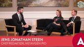 Foto fra videoen i valgkampen, hvor Jens Jonatan Steen er vært på Socialdemokraternes facebookside og får løn for arbejdet.