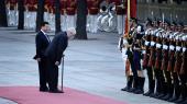 Da Milos Zeman blev præsident for Tjekkiet i 2013, skiftede han kurs over for Kina og begyndte at styrke forbindelserne til Xi Jinpings styre. Her ses de to statsledere i Beijing i 2014.