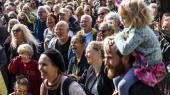 Klimamarchen i København vandrede lørdag rundt i centrum omkring Christiansborg.