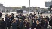 Statsminister Lars Løkke Rasmussen, energi-, forsynings- og klimaminister Lars Chr. Lilleholt og fire andre ministre præsenterede regeringens klimaudspil på et pressemøde tirsdag den 9. oktober 2018 ved BLOX i København. (Arkivfoto)