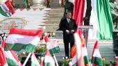 Ungarns premierminister Viktor Orbán fejrede fredag landets nationaldag, der markerer landets revolution og sejr over det Habsburgske Monarki i 1948.
