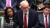 »Vi har ingen tid at spilde. Vi lever i en klimakrise, som vil bevæge sig faretruende ud af kontrol, hvis ikke vi nu skrider til hurtig og dramatisk handling,« sagde Labours leder, Jeremy Corbyn, onsdag i parlamentet.
