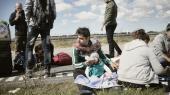 Syriske asylansøgere efter deres ankomst til Rødby i 2015.