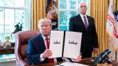 Donald Trump fremviser en underskrift på et papir den 24. juni, der pålagde yderligere økonomiske sanktioner mod Iran. Og situationen ser kun ud til at eskalere.