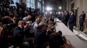 Lederen af Femstjernebevægelsen Luigi Di Maio møder pressen i sidste uge efter premierminister Guiseppe Contis tilbagetræden. Tirsdag skal de stemmeberettigede medlemmer af bevægelsen stemme om, hvorvidt bevægelsen skal gå i regering med arve enderne i PD – men rammen for den internetbaserede afstemning møder kritik.