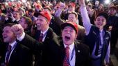Republikanske tilhængere fejrer Donald Trumps sejr ved det amerikanske præsidentvalg i 2016. Ved valget kom 40 procent af samtlige kampagnedonationer fra den øverste ene procent af den øverste ene procent.