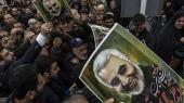Iransk protestdemonstration mod USA's likvideringafchefen for Irans al-Quds-styrke, generalmajor Qassem Suleimani.