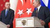 Tyrkiets præsident (tv),Recep TayyipErdogan, og Ruslands præsident (th), Vladimir Putin, har indgået en våbenhvileaftale - men den nævnerhverken den syriske regering eller den syriske opposition. Dokumentet er ovenikøbet skrevet på russisk, tyrkisk og engelsk og ikke arabisk, som man taler i Syrien.