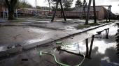 Skoler og uddannelsesinstitutioner lukker ned på grund af conronapandemien. Her er det Hareskov Skole i Hareskovby, hvor legepladsen er tom.