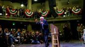 »Vores bevægelse har vundet den ideologiske kamp,« sagde Bernie Sanders onsdag, da han erkendte sit nederlag og anerkendte Biden som partiets kandidat. Her ses han ved et vælgermøde i the Black Box Theater i Indianola før primærvalget i Iowa.