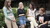 De fire kommende studiner, Freja Terney, Nanna Banke,Amanda Amaloo ogPi Domsten er en del af den statistik, som viser, at lidt over halvdelen af de naturvidenskabelige studenter fra det almene gymansium i dag er kvinder.
