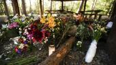 Gerningsstedet ved shelterpladsen i Nordskoven ved Rønne, hvor en 28-årig dansk-tanzanianer blev dræbt tirsdag d. 23. juni.