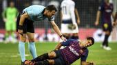 Det kører ikke for FC Barcelona for tiden. Og det er svært at se, hvem der skal tage over for de aldrende stjerner som Messi, Suarez (billedet) og Piqué, der alle er 33 år.