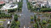 Store oversvømmelse har ramt Kina denne sommer. Blandt andet her i Weihui.