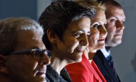 Vækstplanen er blevet positivt modtaget af et flertal af danskerne, men der er både stor skuffelse og vrede i dele af den røde lejr. Billedet er fra præsentationen af den planlagte milliardindsprøjtning i jernbanedriften. Foto: Nikolai Linares