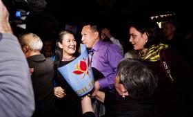 Med 42,8 procent af stemmerne bliver partiet Siumut det nye regeringsbærende parti i Grønland. Partiets leder Aleqa Hammond (billedet) fik personligt 22,6 procent af alle afgivne stemmer.