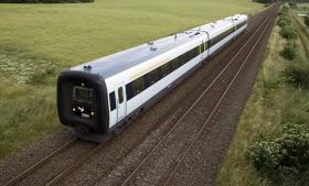 Togplanen indeholder bl.a. en spritny jernbane på Vestfyn (5,4 mia.), en togbro over Vejlefjord (4 mia.) og elektrificering af næsten hele landets tognet (8,7 mia.). I alt er der forbedringer af tognettet for 27,5 mia. kroner, der finansieres via beskatning af olie- og gasudvinding i Nordsøen. Foto: Scanpix