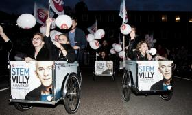 For få år siden var der højt humør i SF, som her til valgfest i København i 2011. Siden er både stemningen og tilslutningen til partiet dalet markant