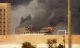 Der er lavet en del af den slags dokumentarer om Irak-krigen, men Losing Iraq er fra 29. juli 2014 og altså efter, IS tog kontrol med store dele af landet. Stillbillede fra filmen