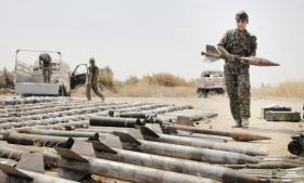 Information er taget ind i den nordsyriske by Sarrin kort efter, kurdere fra YPG har tilbageerobret den fra IS.