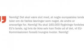 Hvordan Lars Løkke Rasmussen forholder sig til den situation, står hen i det uvisse. Foreløbig kan vi konstatere, at han gerne vil være en del af fælles europæiske løsninger, hvis altså fællesskabet vil det samme som os