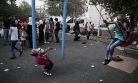 Syriske flygtninge i Bodrum, Tyrkiet, venter på, at det bliver muligt at sejle til Grækenland.