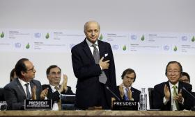 Laurent Fabius kunne i dag meddele, at en historisk klimaaftale blev indgået ved COP21 i Paris.