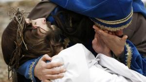Polske katolikker genopfører påskens drama ved Kalwaria Wejherowska nær Gdansk.