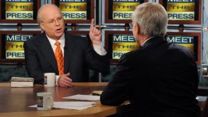 Den første. Karl Rove er den første fra Bushs inderkreds, der udgiver sine erindringer. Og medieinteressen er enorm.