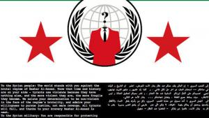 Syriens forsvarsministeriums hjemmeside hacket af 'Anonymous'