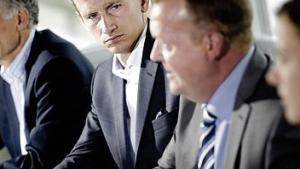 Kristian Jensen ude i kulden