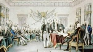 Amerikanske og britske advokater forsøger nu at afklare om Thomas Jeffersons uafhængighedserklæring var ulovlig