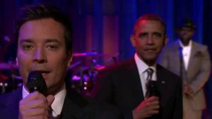 Barack Obama lavede tirsdag en lidt utraditionel surprise-optræden på Jimmy Fallons talkshow