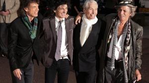 Storhedstid. Mick Jagger, Ronnie Wood, Charlie Watts og Keith Richards som de ser ud i 00'erne. Ifølge Klaus Lyngaards ganske særlige Stones-kalender havde bandet sin storhedstid i årene 1965-1981.