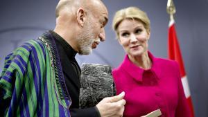 Den afghanske præsident, Hamid Karzai, var i går på officielt statsbesøg i København – her ses han i Statsministeriet sammen med Helle Thorning-Schmidt. Karzai forlader præsidentposten næste år.
