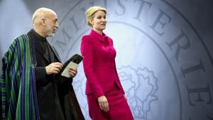 »Jeg kan med fuldstændig sikkerhed sige til det danske folk, at den afghanske regering vil yde de penge, danskerne giver til det afghanske folk, den største retfærdighed,« sagde præsident Hamid Karzai, da han besøgte Danmark tidligere på året. Foto: Keld Navntoft/Scanpix