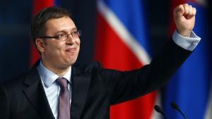Aleksandar Vučić, nuværende vicepremierminister i Serbien, er favorit til at vinde valget på søndag.