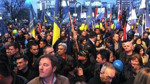 Optakten til det serbiske valg, som finder sted å søndag den 16. marts, samme tid som afstemningen om Krims uafhængighed, har taget en uventet drejning, efter Putin den 4. marts brugte Kosovos løsrivelse som et argument for Krims løsrivelse. Foto: Scanpix
