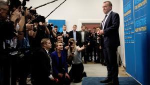 Statsminister Lars Løkke Rasmussen erkendte torsdag aften efter at valgresultatet forelå, at han ikke havde været i stand til at overbevise danskerne.