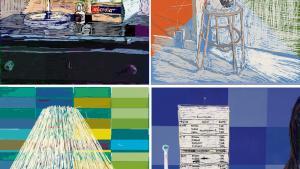 Værker: 'Microlax' 42 x 32. Digital tegning, 2015. 'Nursing Homes'42 x 32. Digital tegning, 2015.'Tiled table' 42 x 32. Digital tegning, 2015. 'Pille hylde' 42 x 32. Digital tegning, 2015.