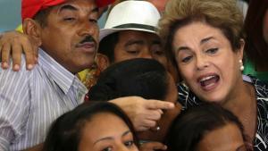 Dilma Rousseff risikerer at blive stemt væk fra præsidentposten.