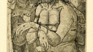 Jesus synes at have haft et varmt og muligvis kødeligt forhold til Maria Magdalena, og kunstværker fra Middelalderen til renæssancen viser ham undertiden med en betragtelig erektion. Alligevel er emnet forblevet tabu. Her som 'Christ as the Man of Sorrows with the Virgin and St John'.