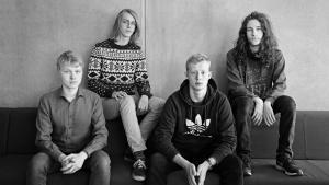 Fra venstre: Mikkel Kenneth Elk, Gustav Emil Ølgaard, Kasper Thorhauge Grønbek, Jan Therp Larsen – går alle fire på Birkerød Gymnasium.