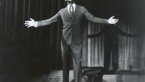 Den amerikanske minstrelshow-superstjerneAl Jolson i 1927.