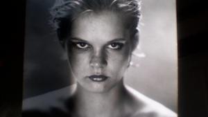 Tine Byrckel som 19-årig model, lige inden hun begyndte på filosofistudiet.